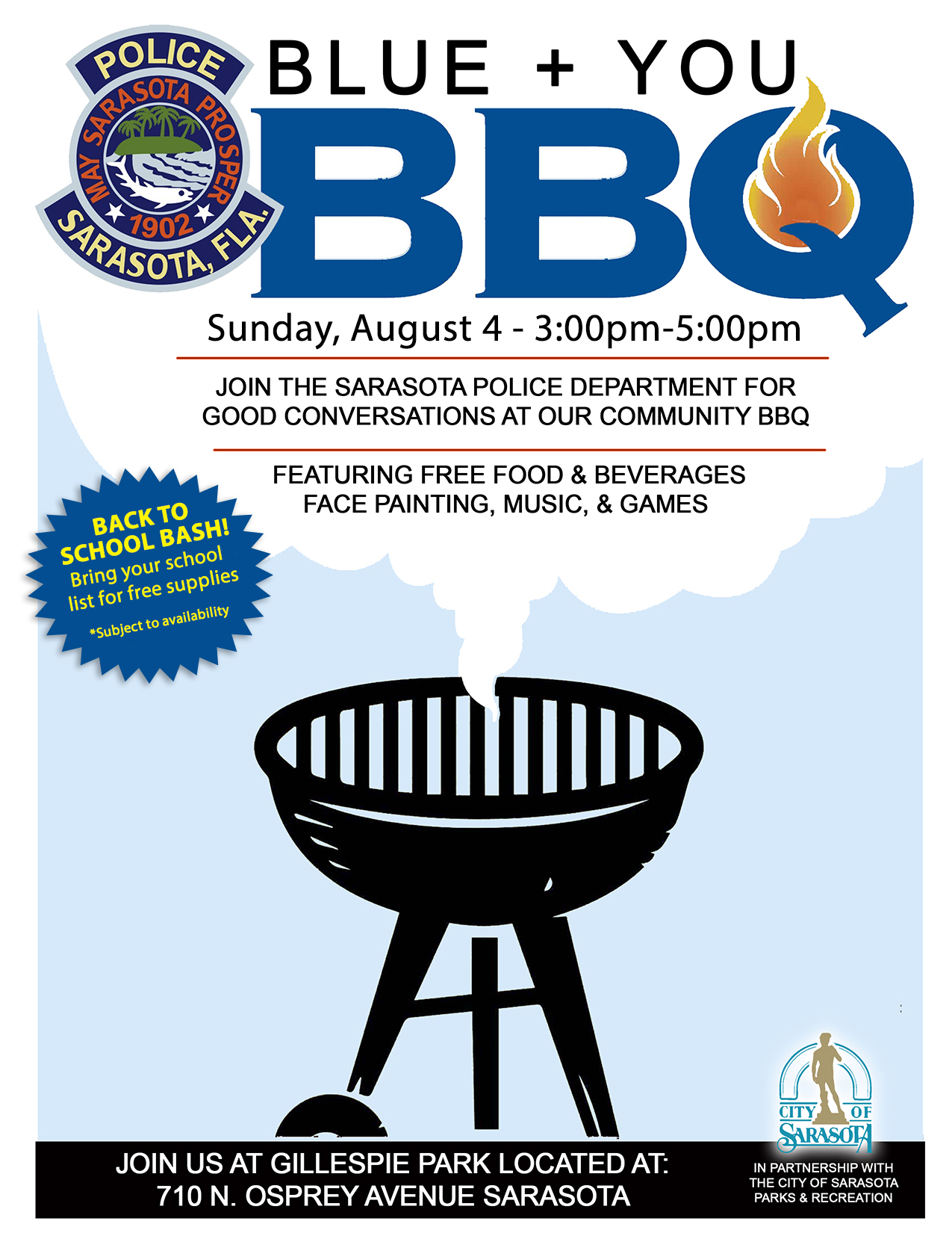 Sarasota Police Department to host Community Barbecue