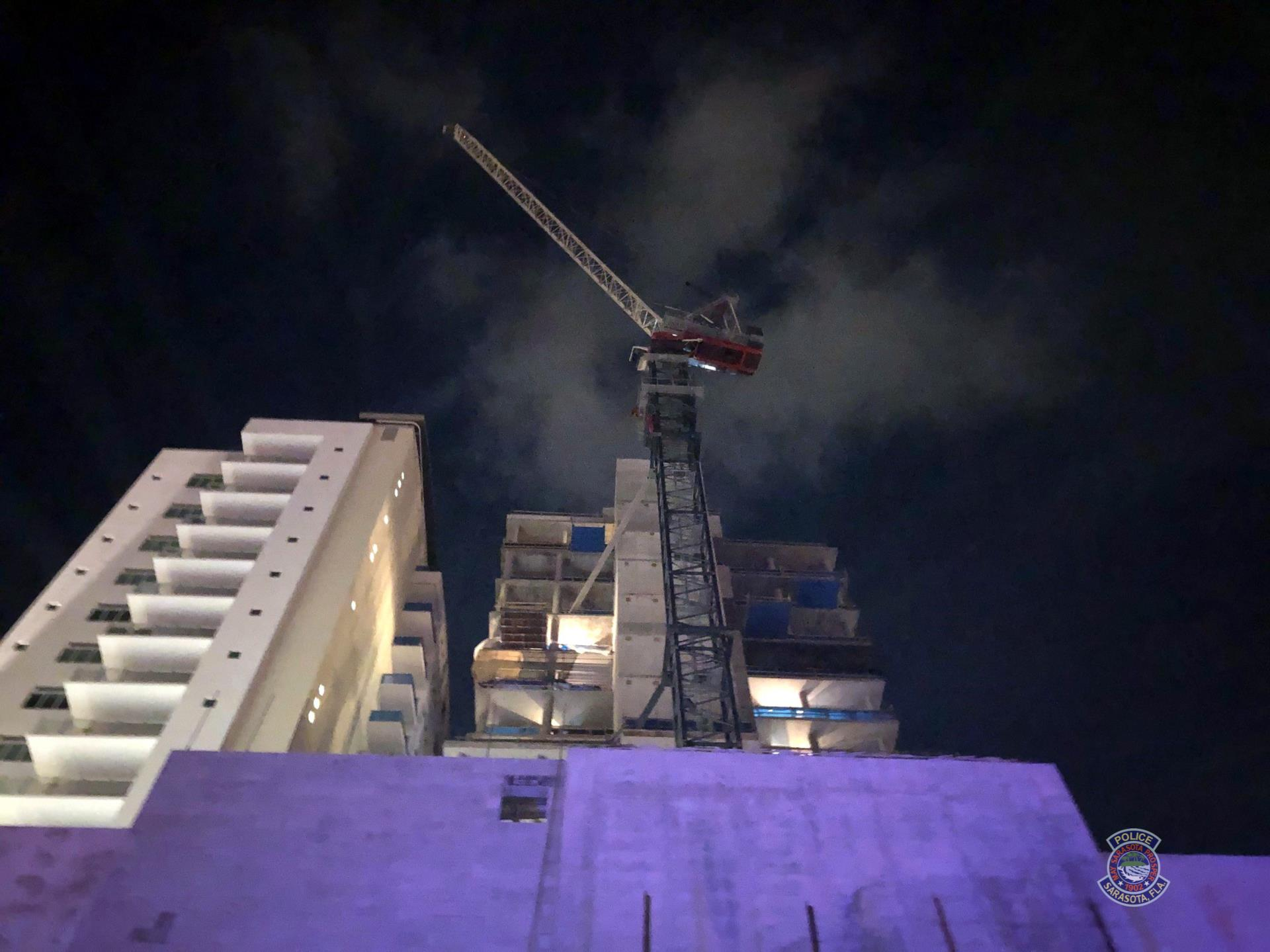 Two men arrested in Sarasota after caught climbing on construction crane